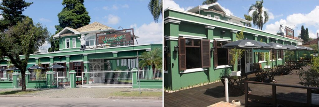 fachada do restaurante o jardineiro, no bairro merces em curitiba