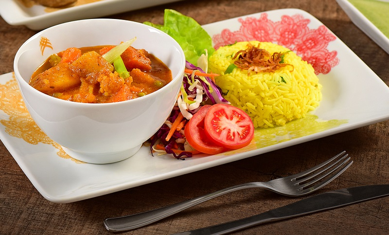 Veg Jalfreize vegetariano do Swadisht Tase e Express em Curitiba