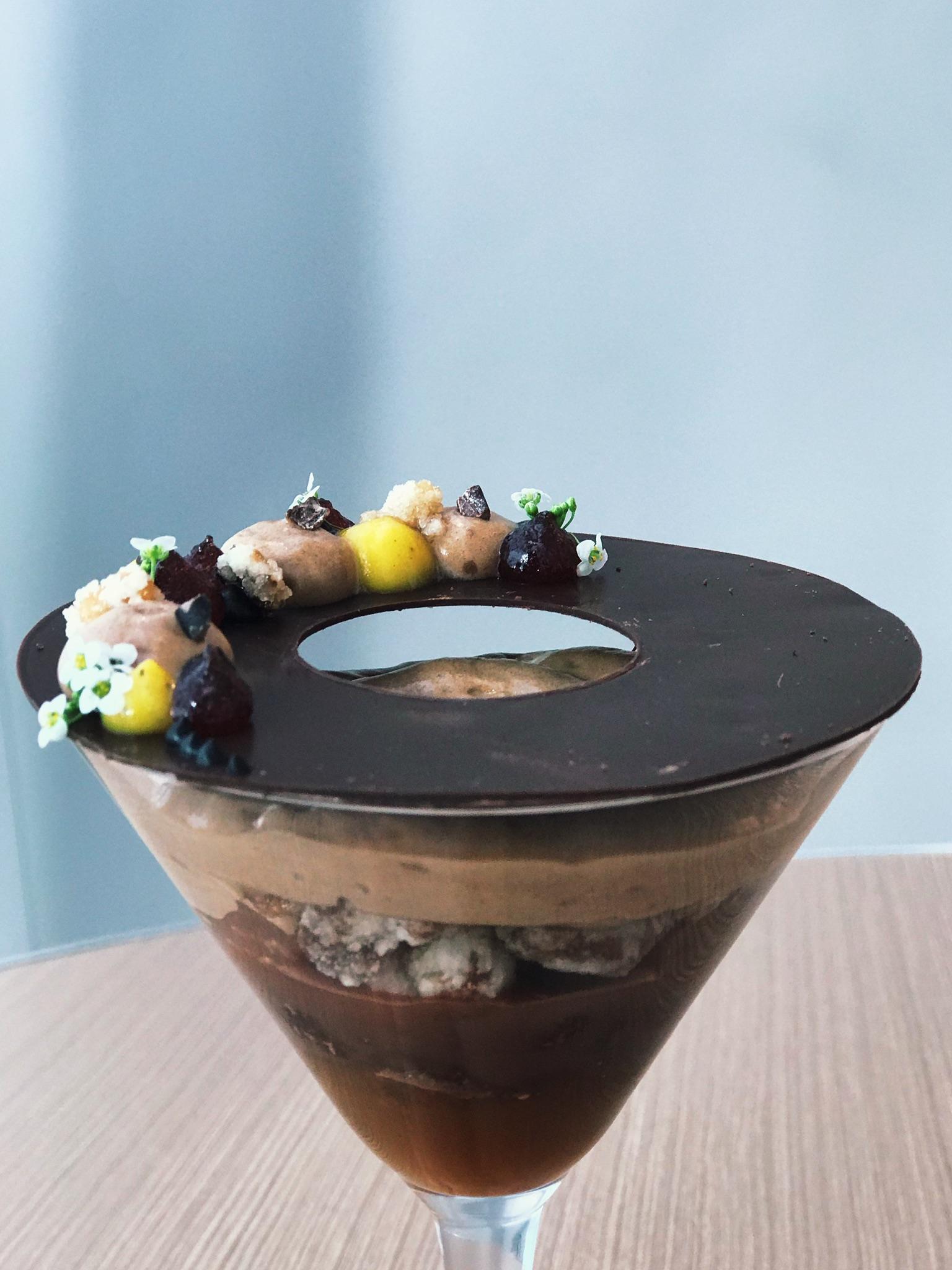 Verrine de chocolate belga do La Varenne em Curitiba
