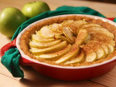 Sobremesa para a ceia de Natal: Torta de ricota com maçã verde