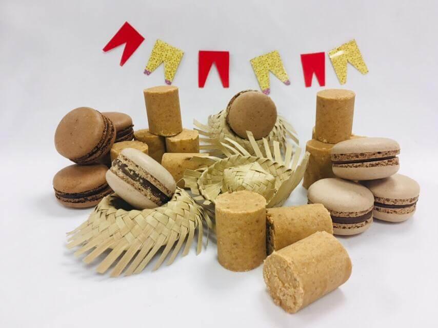 Doce para Festa Junina Macaron de paçoca é uma opção. (1)