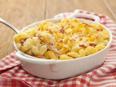Receita by Isabela: Mac and Cheese simplificado com salame