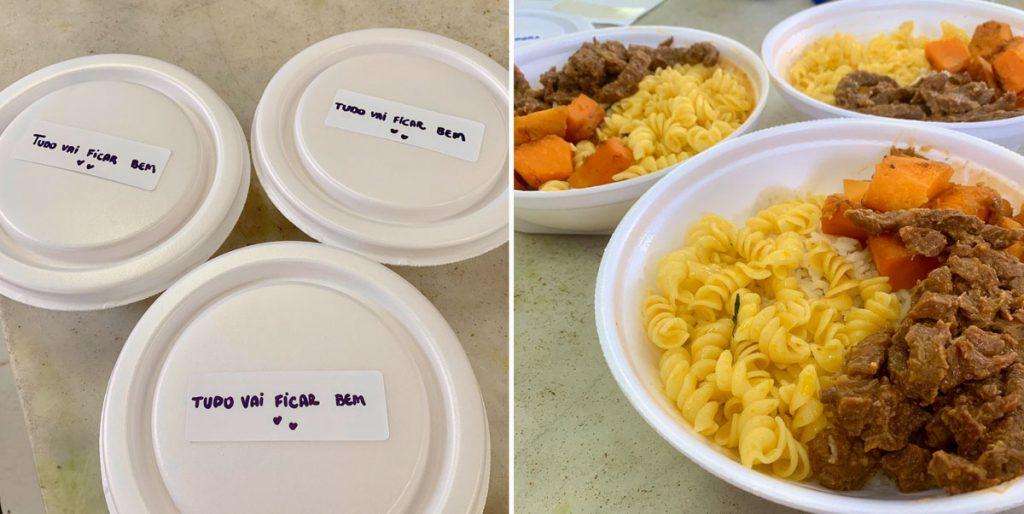 refeições doadas na iniciativa do Grupo Risotolândia