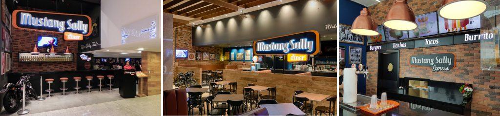 fachadas das unidades do restaurante e bar Mustang Sally-MustangSally reabre unidades nos shoppings